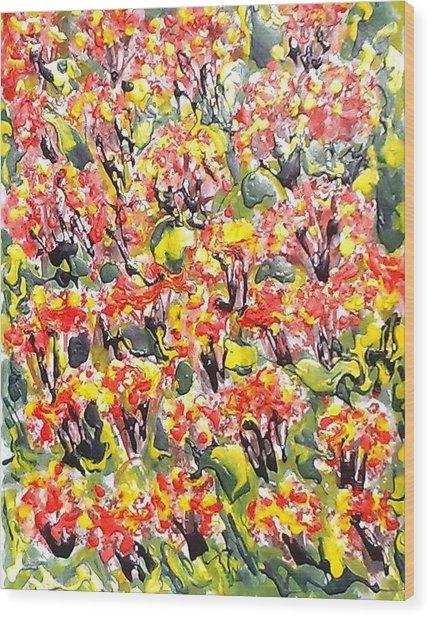 Love Flowers Wood Print