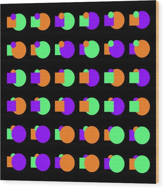270 Circle And Square Phi - 24 Wood Print