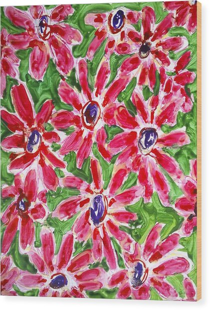 Divine Flowers Wood Print by Baljit Chadha