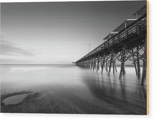 2nd Ave Pier Sunset Wood Print