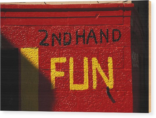 2nd Hand Fun Wood Print by Carl Purcell