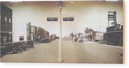 2nd St. 1930 And Route 66 1950 Wood Print by Doug Quarles