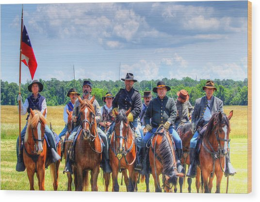2nd Us Cavalry  Wood Print