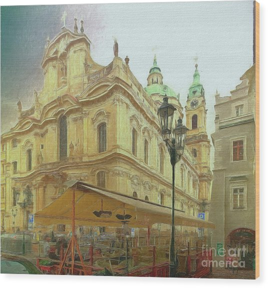 2nd Work Of St. Nicholas Church - Old Town Prague Wood Print