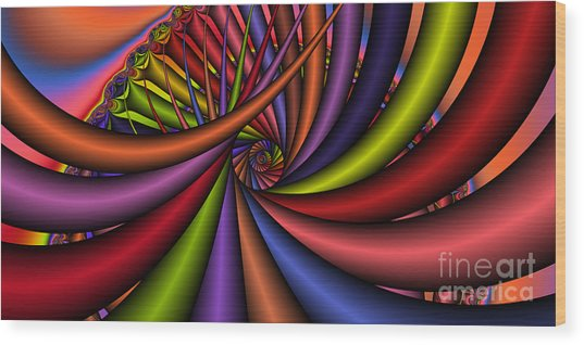2x1 Abstract 430 Wood Print by Rolf Bertram