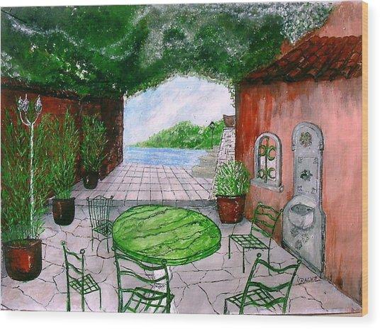 a la Provence Wood Print by KlausJuergen Rach