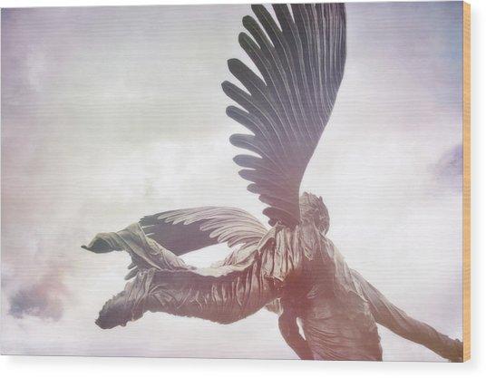 Airborne Angel Wood Print by JAMART Photography