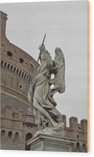 Angelo Con La Lancia Wood Print by JAMART Photography
