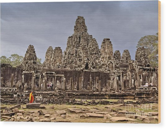 Wood Print featuring the photograph Angkor Wat by Juergen Held