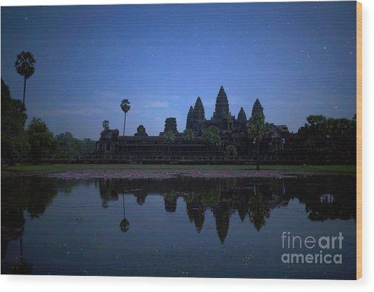 Angkor Wat Wood Print by Stefano SmallBoy Tomassetti - Photodreamer