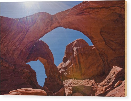Arches N.p. Wood Print by Larry Gohl
