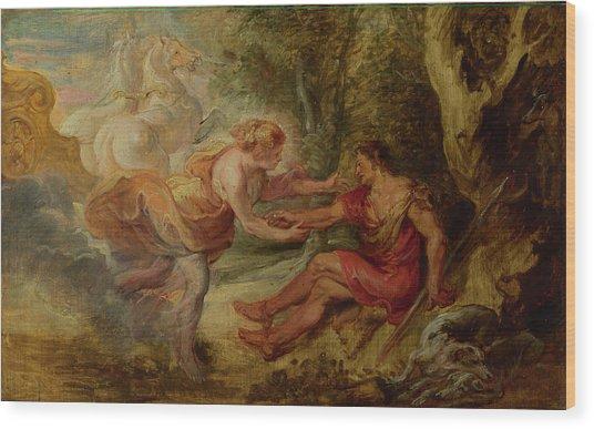 Aurora Abducting Cephalus Wood Print