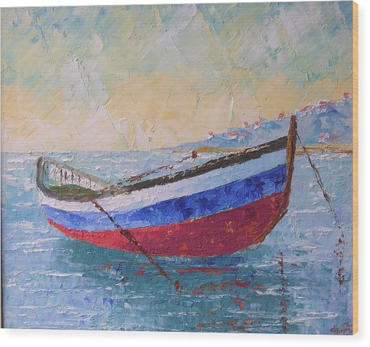 Boat Of Provence  Wood Print by Frederic Payet