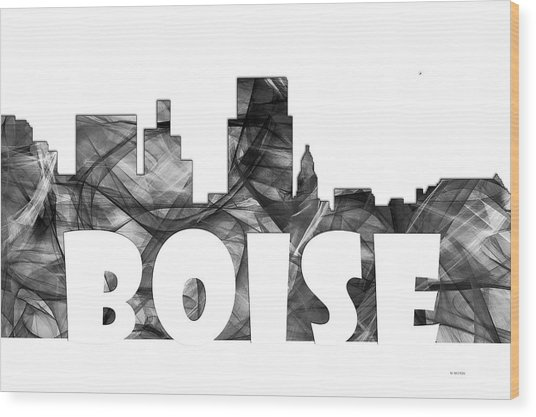 Boise Idaho Skyline Wood Print