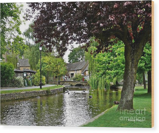 Bourton-on-the-water Wood Print