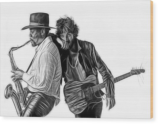 Bruce Springsteen Clarence Clemons Collection Wood Print
