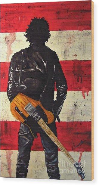 Bruce Springsteen Wood Print