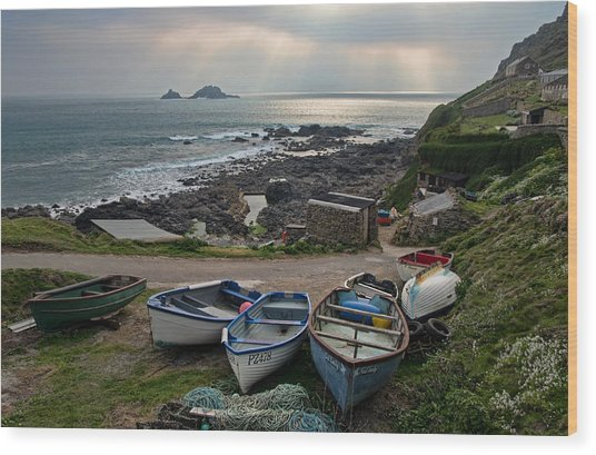 Cape Cornwall Wood Print