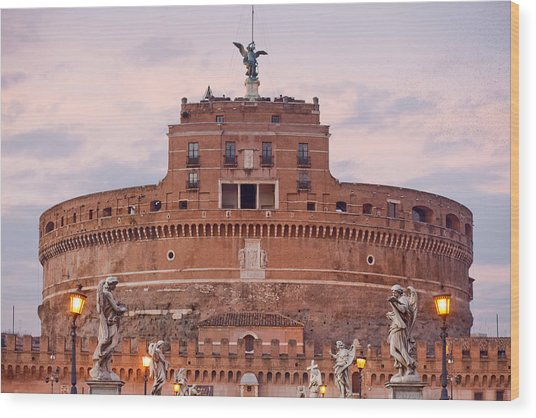 Castel Sant'angelo Wood Print by Andre Goncalves
