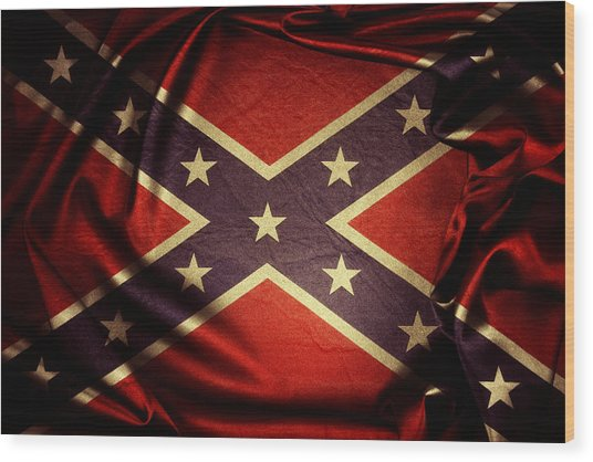Confederate Flag 6 Wood Print