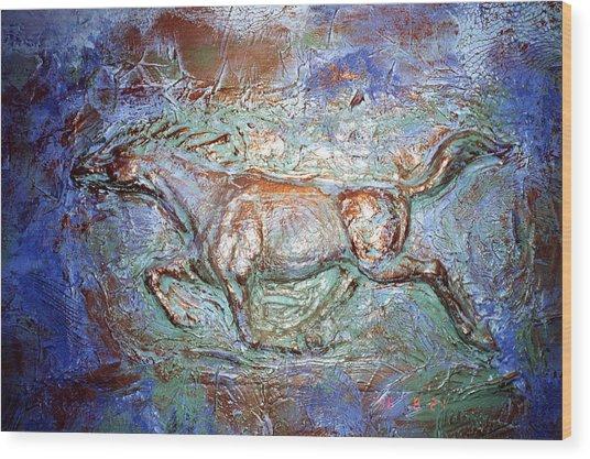 3 D Horse Wood Print
