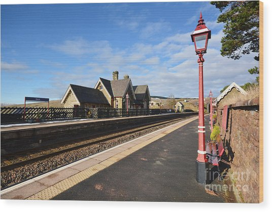 Dent Railway Station Wood Print