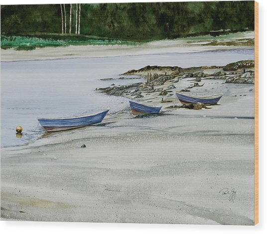 3 Dories Kennebunkport Wood Print