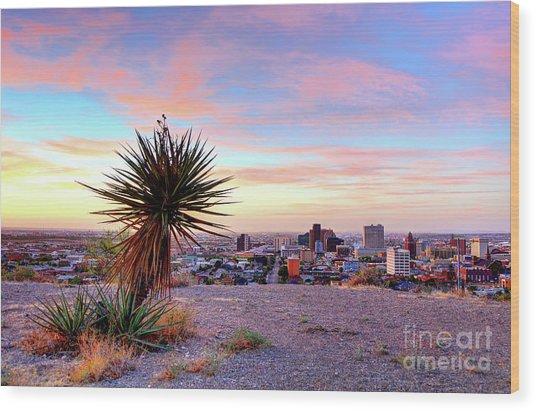 El Paso, Texas Wood Print by Denis Tangney Jr
