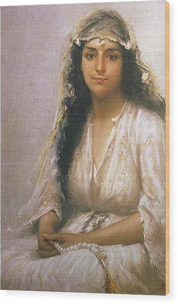 Fausto Zonaro A Young Lady Wood Print