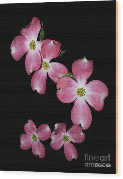 Flower Wood Print by Diane Falk