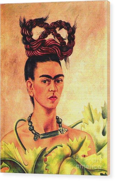 Frida Kahlo Self Portrait Wood Print