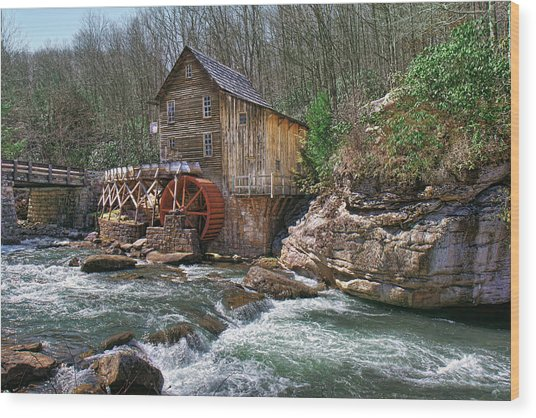 Glade Creek Grist Mill Wood Print