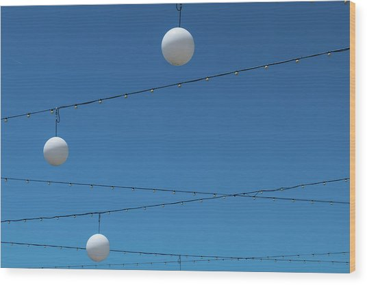Wood Print featuring the photograph 3 Globes by Eric Lake