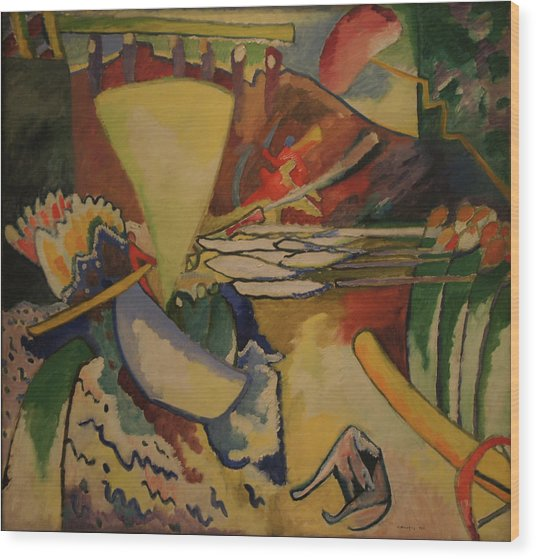 Improvisation Wood Print by Wassily Kandinsky
