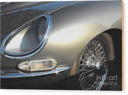 Jaguar E-type Wood Print