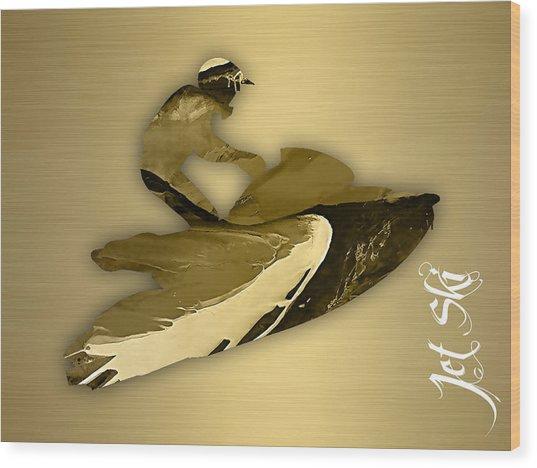 Jet Ski Collection Wood Print