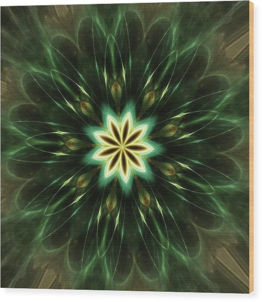 #kaleidoscope #mandala #art #digitalart Wood Print by Michal Dunaj