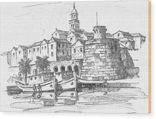 Korcula Croatia Wood Print