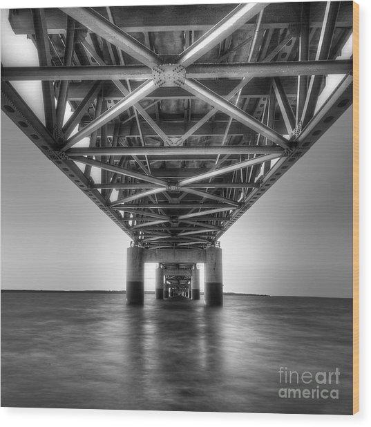 Mackinac Bridge Wood Print
