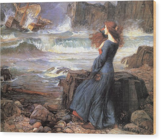 Miranda - The Tempest Wood Print