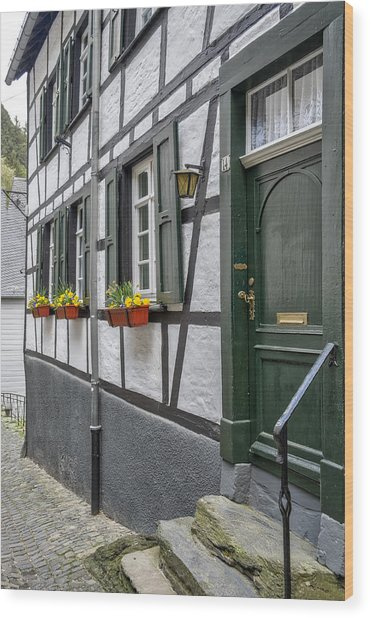 Monschau In Germany Wood Print