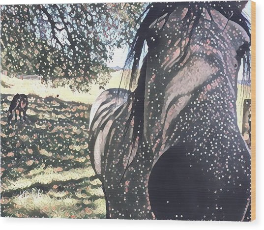 Nosey Belle Wood Print