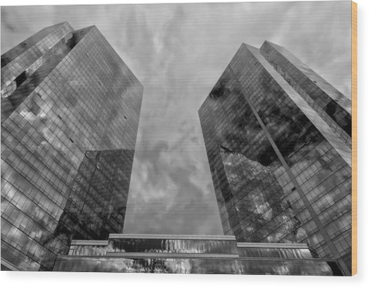Office Buildings White Plains Ny Wood Print