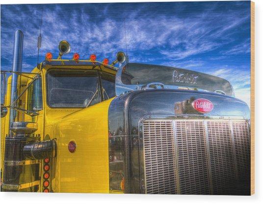 Peterbilt American Truck Wood Print