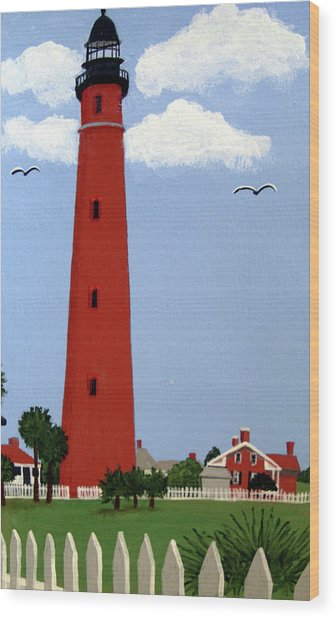 Ponce Inlet Lighthouse Wood Print by Frederic Kohli