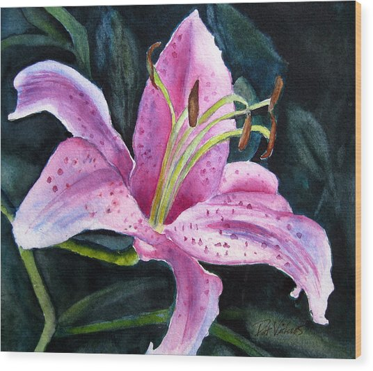 Pretty In Pink Wood Print by Pat Vickers
