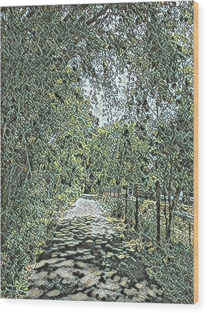 Riverside Park Wood Print