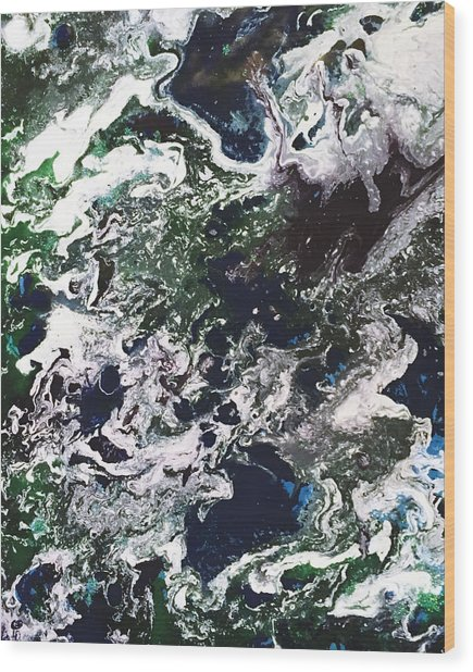 Space Odyssey 2 Wood Print