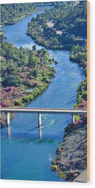 Shasta Dam Spillway Wood Print