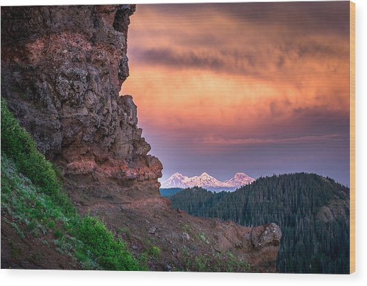 3 Sisters From Iron Mountain Wood Print by Jeffrey Green
